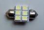 Светодиодная лампа C5W (SV8.5) 32мм 6x SMD 5050