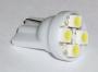 Светодиодная лампа T10 (W5W, 194, 168) 4x SMD 3528